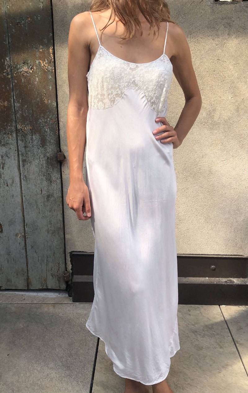 Vintage nightgown wedding style dress