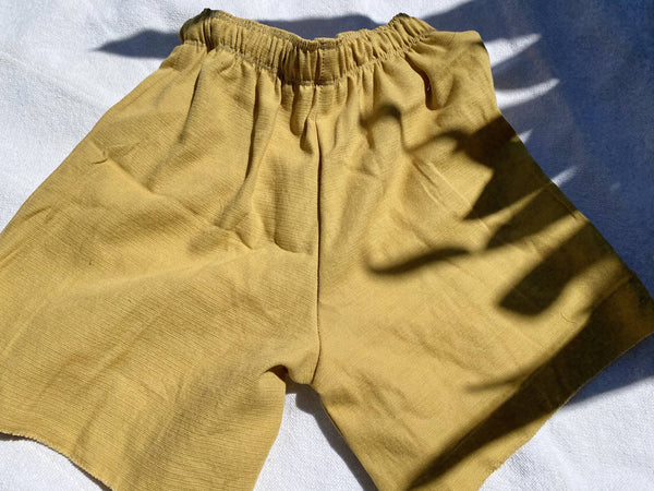 OC013- Mustard Mom Shorts