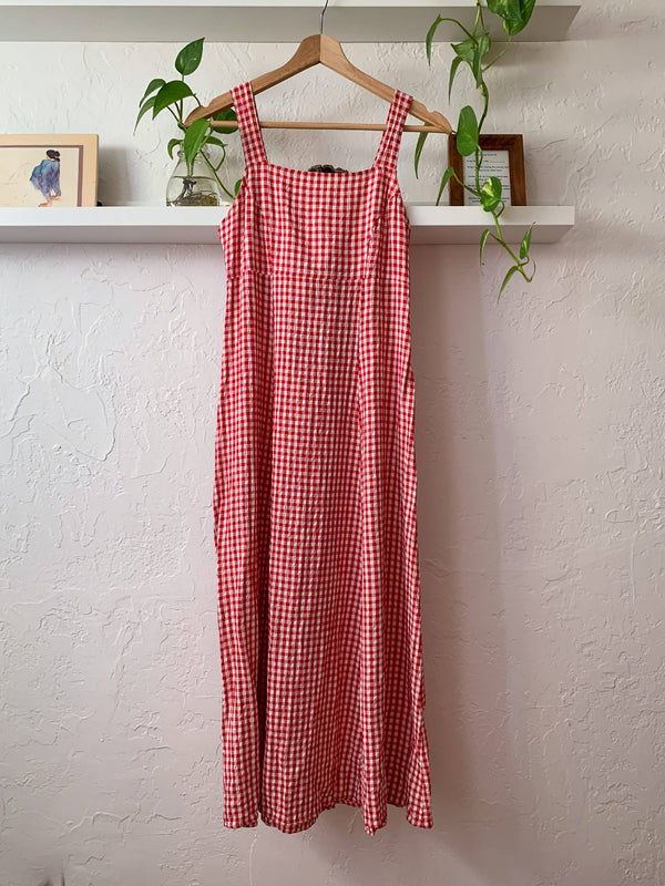 Red Gingham Picnic Dress