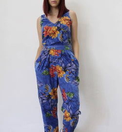 Retro Floral Jumpsuit