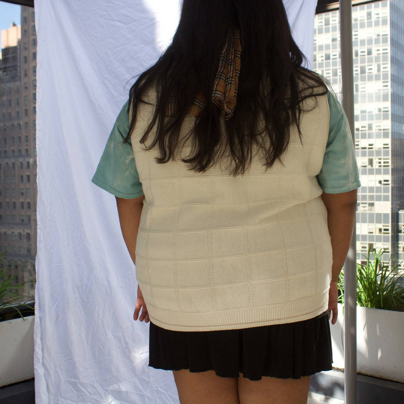 Plus Vintage Ivory Sweater Vest