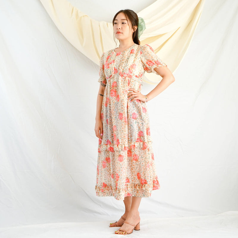 French Rose Prairie Dress