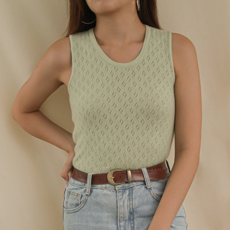 Vintage Benneton Mint Green Cashmere Top