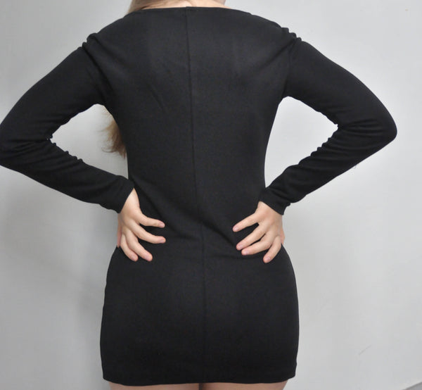 Vintage 90s mini dress by Max Mara in black