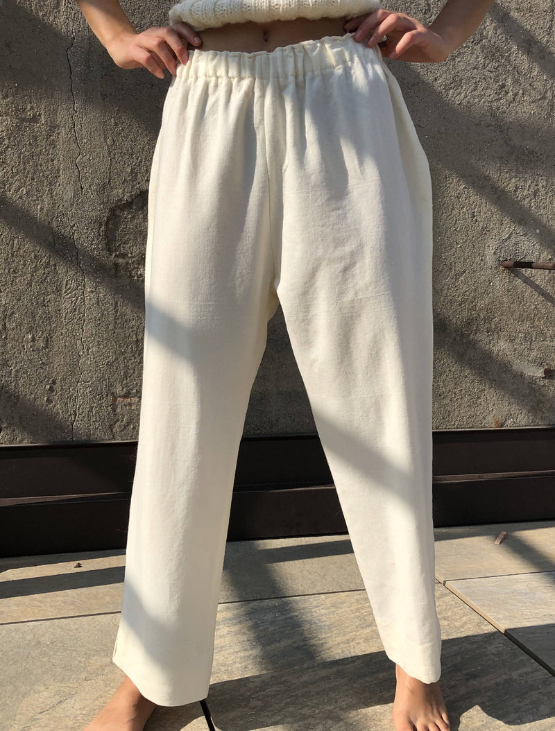 Vintage Hipster Minimalist Virgin Wool Contemporary Japanese Style Unknown Design Handmade Quality Trousers