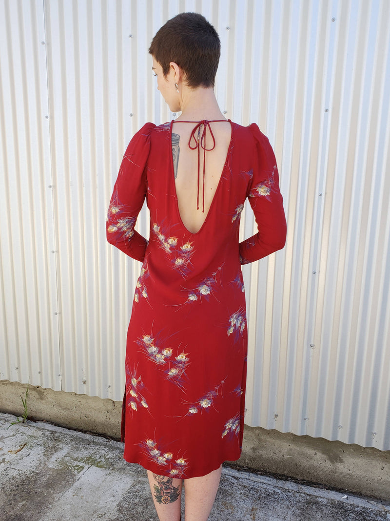 1970's Bespoke low back dress