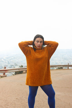 Vintage Burnt Orange turtle neck Sweater