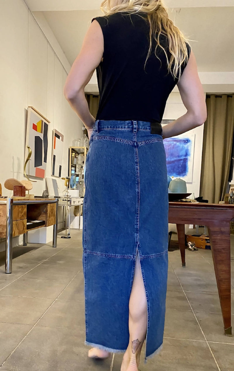 1990's Ralph Lauren Denim Skirt