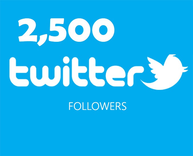 Get an 2,500 Twitter Followers ADS