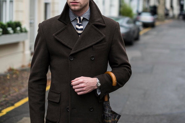 mens Winter wardrobe ideas with knitted ties and bow ties