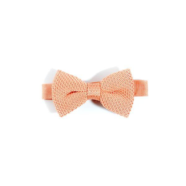 Children's coral fusion knitted bow tie