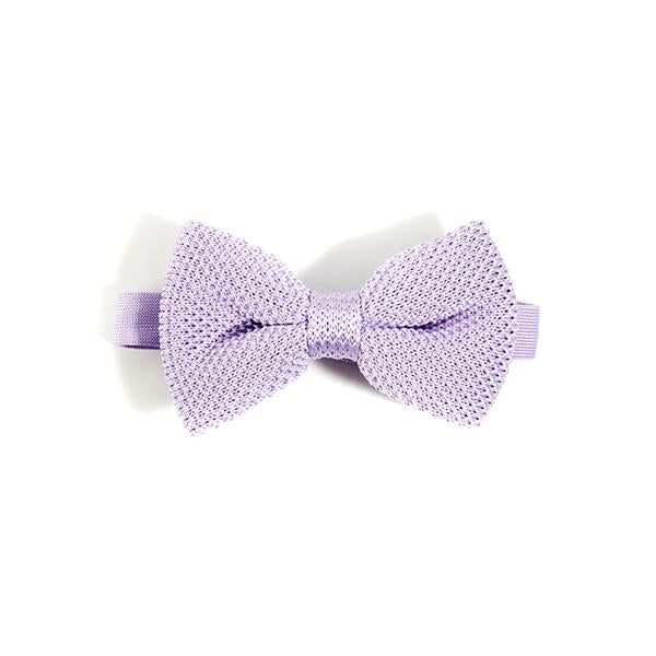 Lavender knitted bow tie