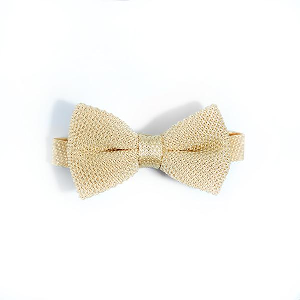 Mens mellow yellow Knitted Bow tie