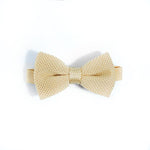Mellow yellow knitted bow tie