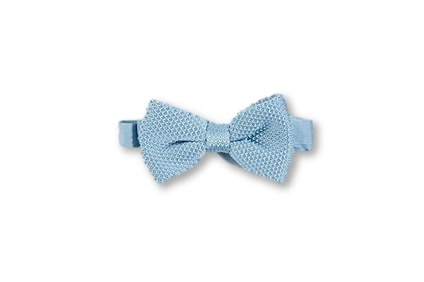 Misty blue knitted bow tie