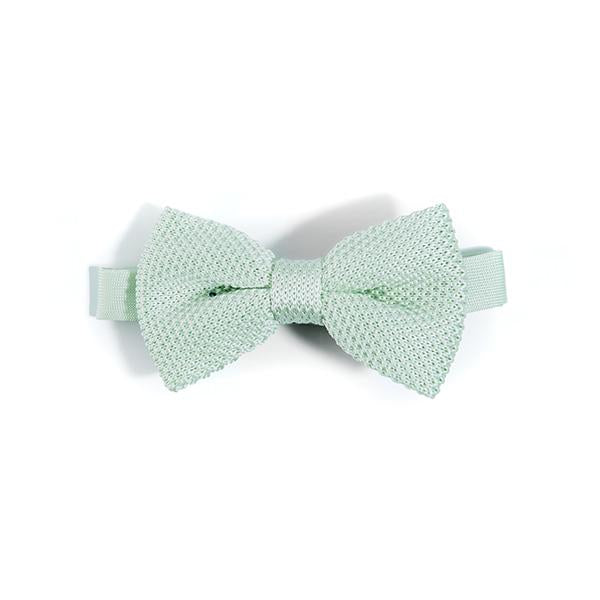 Peppermint knitted bow tie