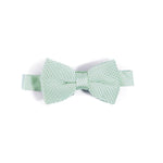 Children's peppermint knitted bow tie