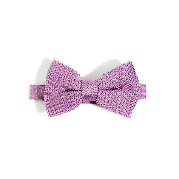 Purple Knitted Bow Tie - Wedding