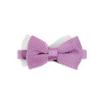 Purple knitted bow tie