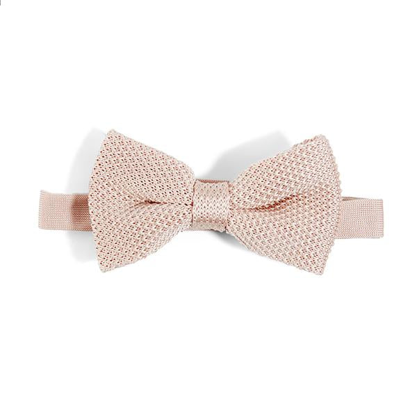 Rose Quartz Knitted Bow Tie | Wedding