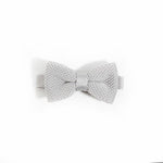 Children's silver knitted bow tie