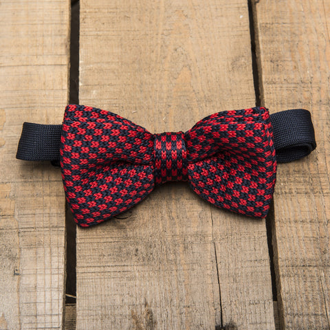 Red and Blue Chequered Bow Tie