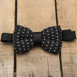 Black and White Detailed Bow Tie