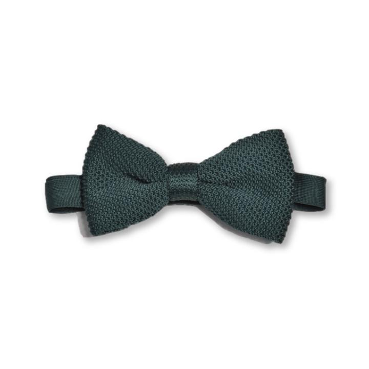 Green Knitted Bow Tie | Wedding