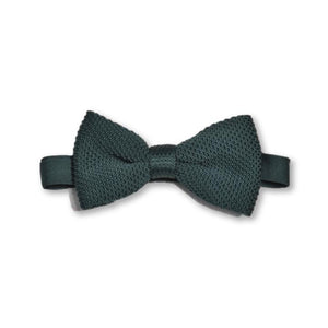 Green knitted bow tie