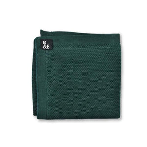 Green knitted pocket square