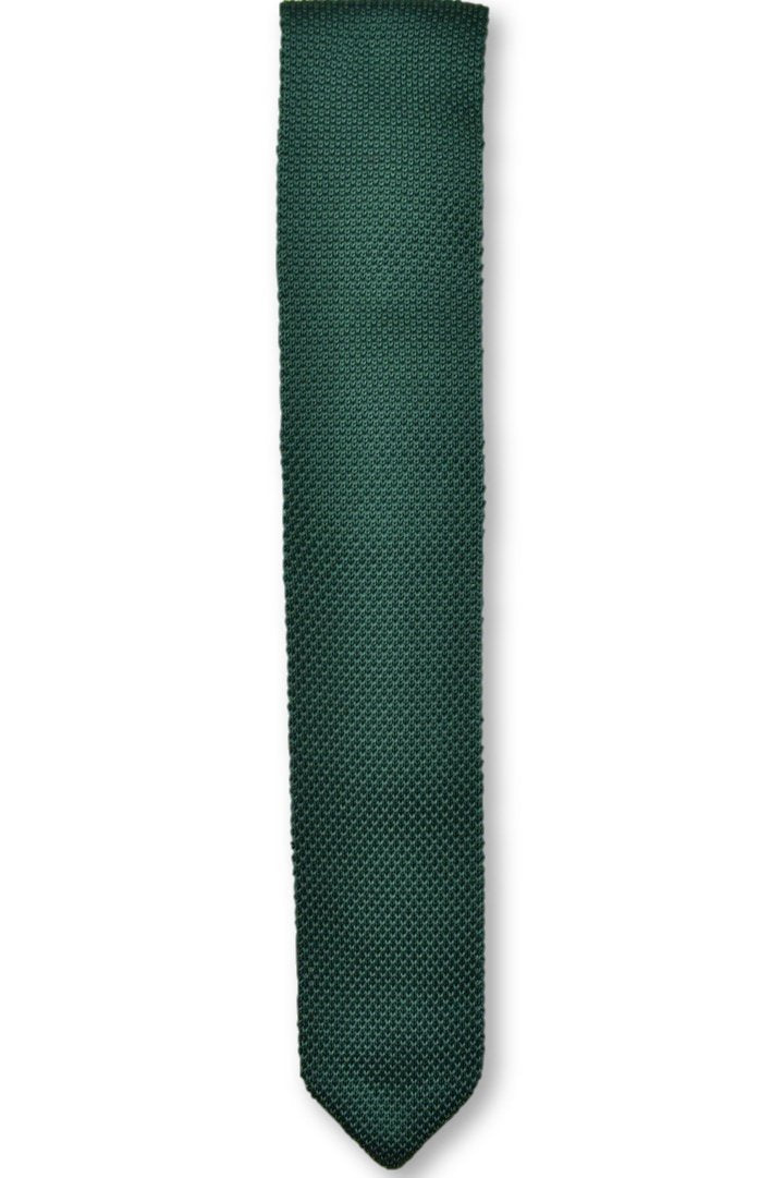 Green Knitted Tie | Wedding