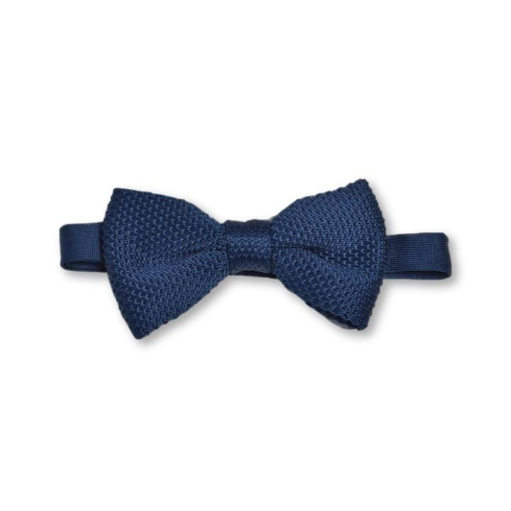 Midnight Blue Knitted Bow Tie | Wedding