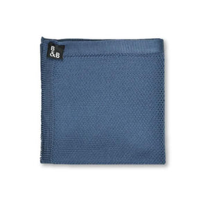 Knitted Pocket Square - Midnight Blue