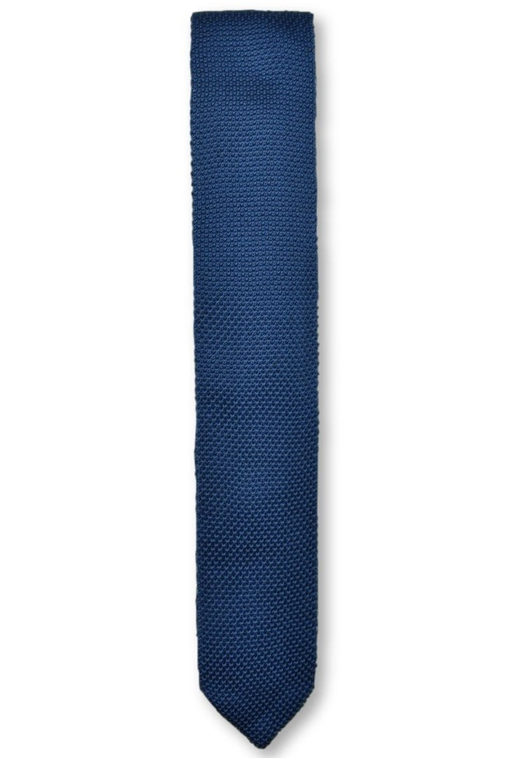 Midnight Blue Knitted Tie | Wedding