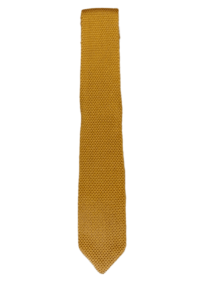 Mustard Yellow Knitted Tie