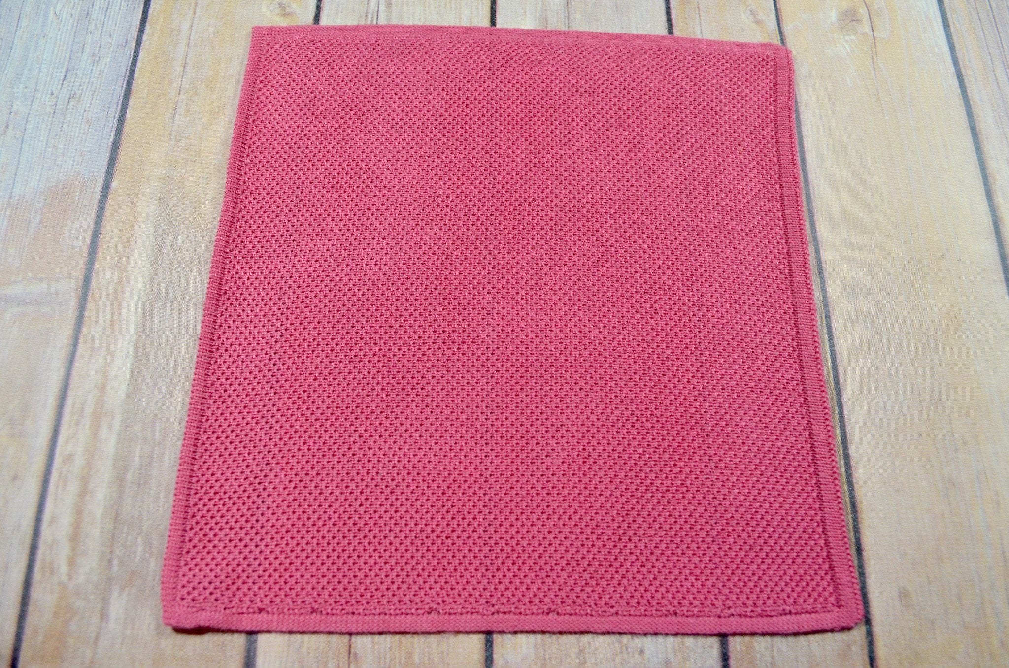 Knitted Pocket Square - Pink