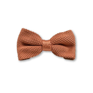 Rustic Orange Knitted Bow Tie | Wedding
