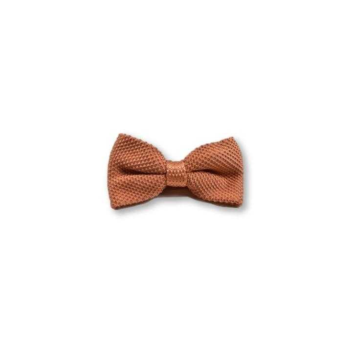 Rustic Orange Children's Knitted Bow Tie