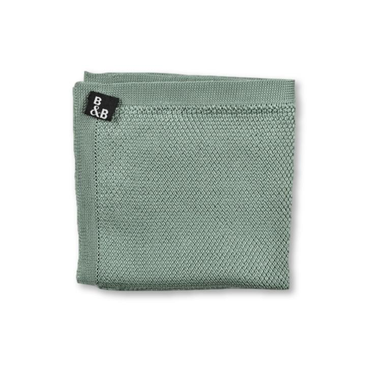 Knitted Pocket Square - Sage Green