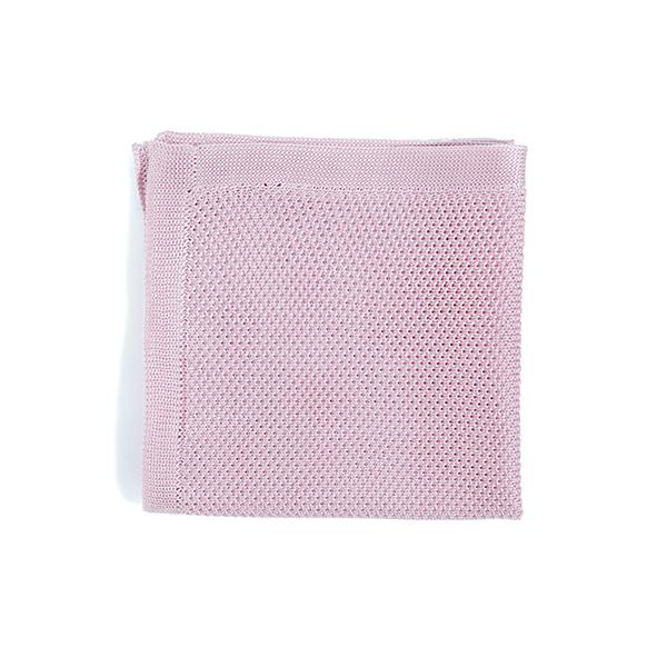 Dusty pink knitted pocket square