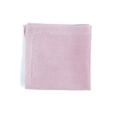 Knitted Pocket Square - Dusty Pink