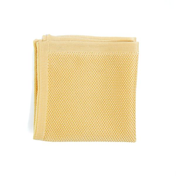 Mellow Yellow knitted pocket square
