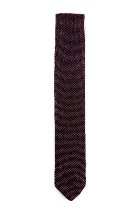 Brown Knitted Tie | Wedding
