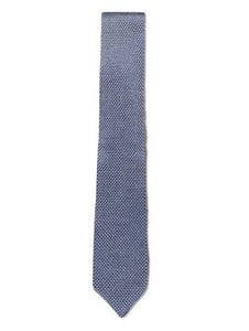 Grey Knitted Silk Tie