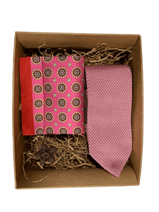 knitted tie gift set