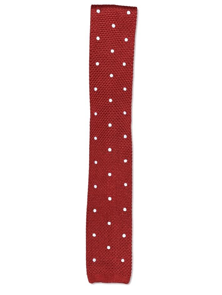 Red Polka Dot Knitted Tie