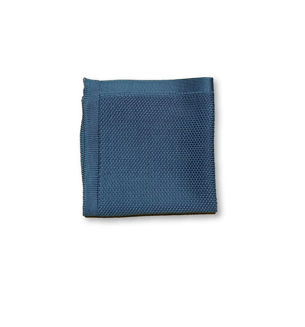 Air force blue knitted pocket square