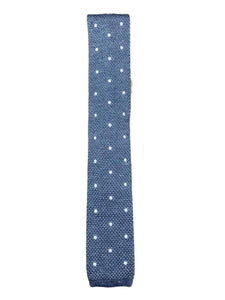 Light Blue Marl Polka Dot Knitted Tie