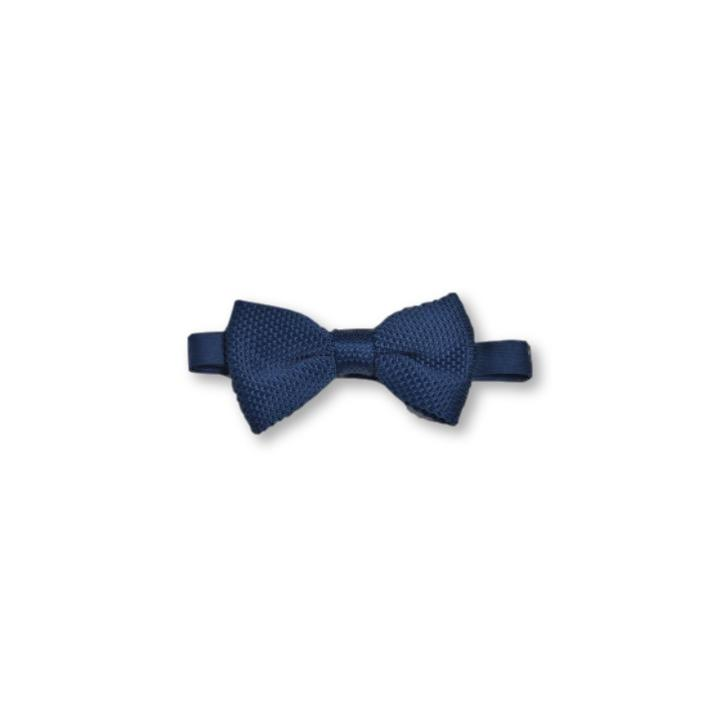 Midnight Blue Children's Knitted Bow Tie
