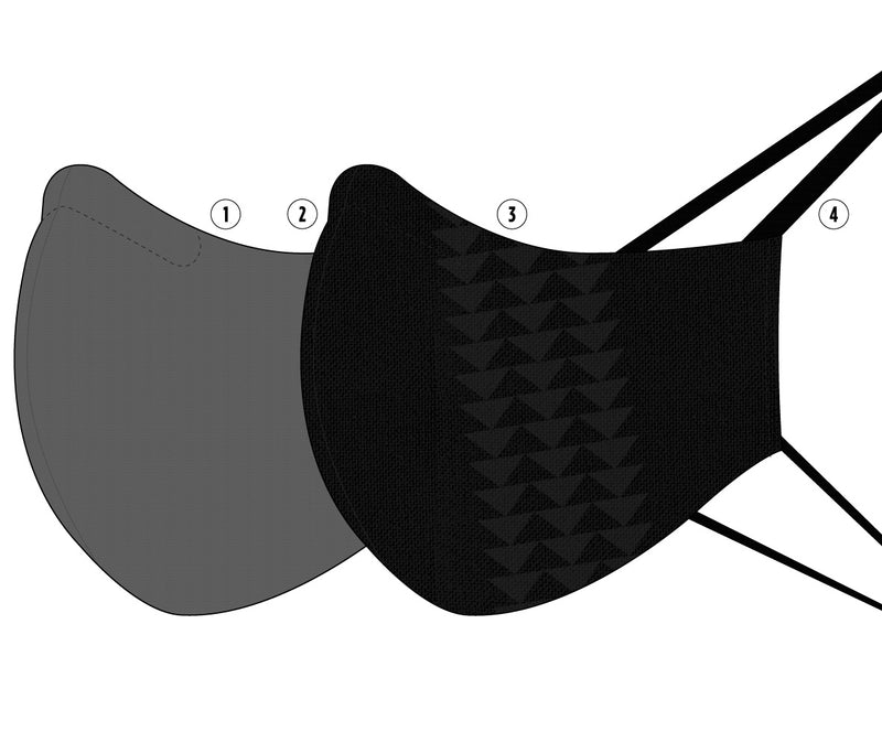 the four parts of the so ill x on the roam masks are shown in an exploded view